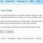 Como excluir uma conta do Hotmail, MSN e Windows Live ID
