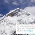 Primeiro twitter enviado do topo Monte Everest (vídeo)