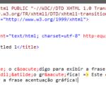Como exibir corretamente caracteres acentuados nas mensagens JavaScript e código HTML?