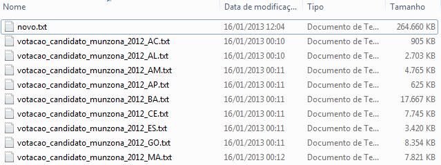 Como combinar vários arquivos de texto em um só