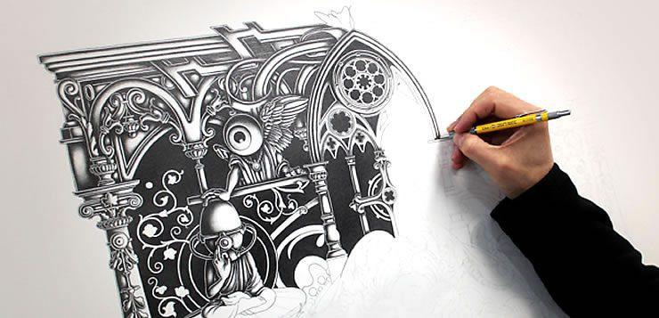 O trabalho de ilustrador exige muita criatividade, mas pouca interação social