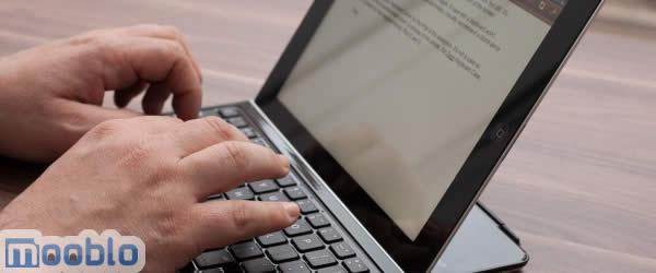 Se a digitação é um problema mesmo com as dicas considere comprar um teclado para iPad