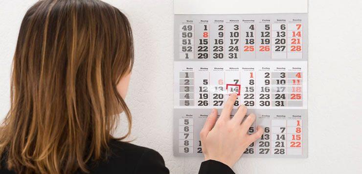 O calendário é um dos objetos mais úteis para se ter por perto