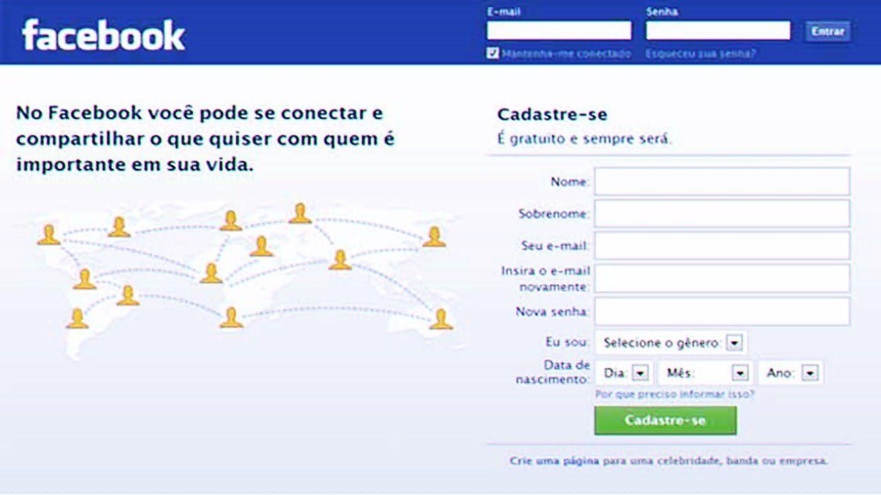 como criar uma conta no facebook passo a passo
