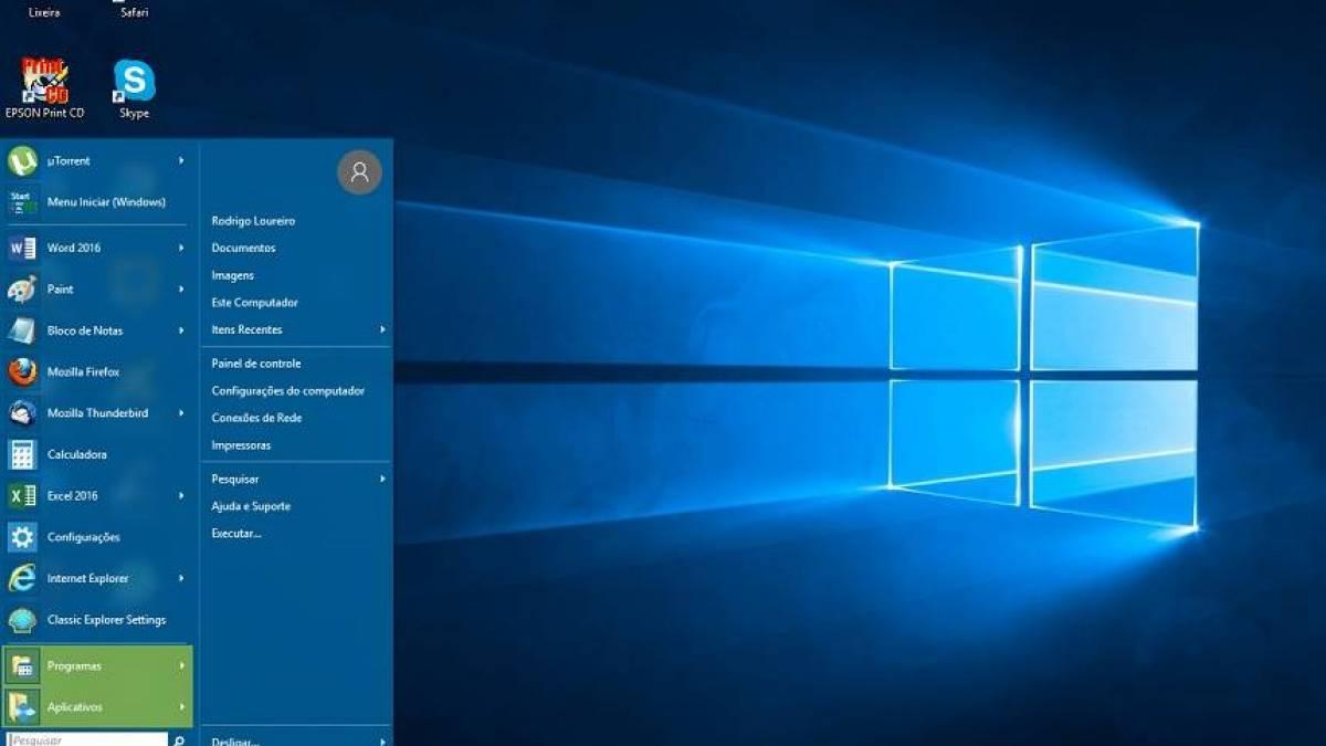 como mostrar seus downloads no menu iniciar do windows 7