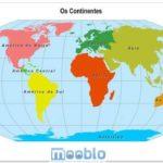 Mapa-Múndi Atual, Político e Continentes