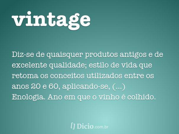 o que e vintage