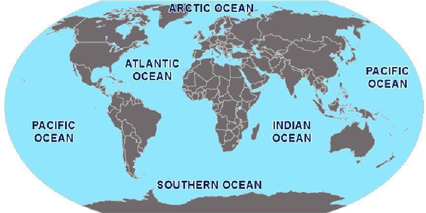 Quais são os 7 mares?