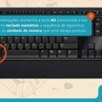 simbolos da musica como colocar no teclado do pc