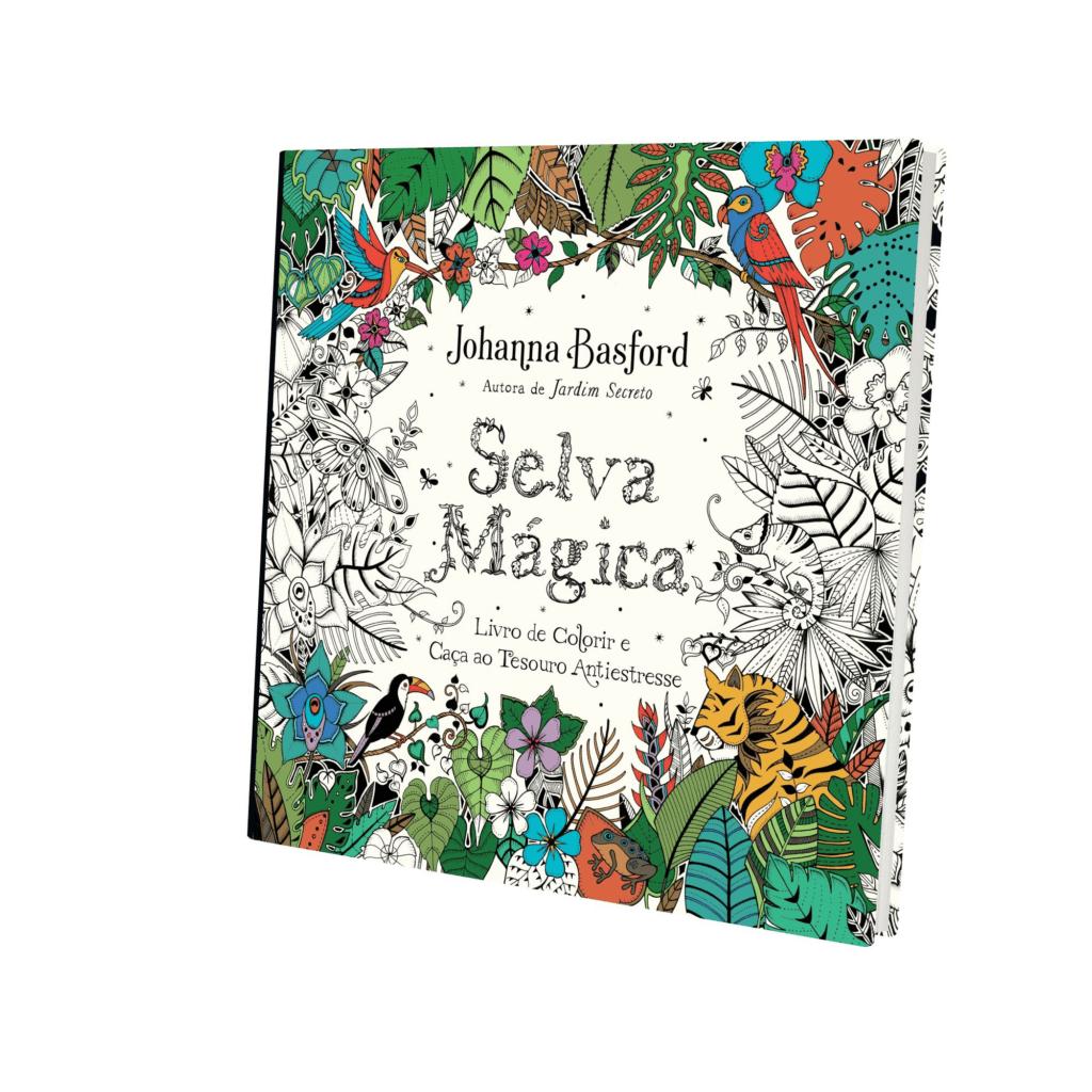Livro de Colorir para Adultos Selva mágica