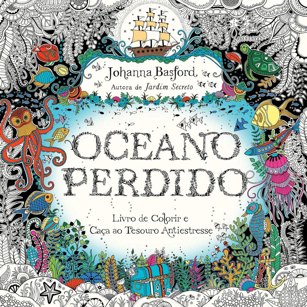 Livro de Colorir para adulto Oceano Perdido