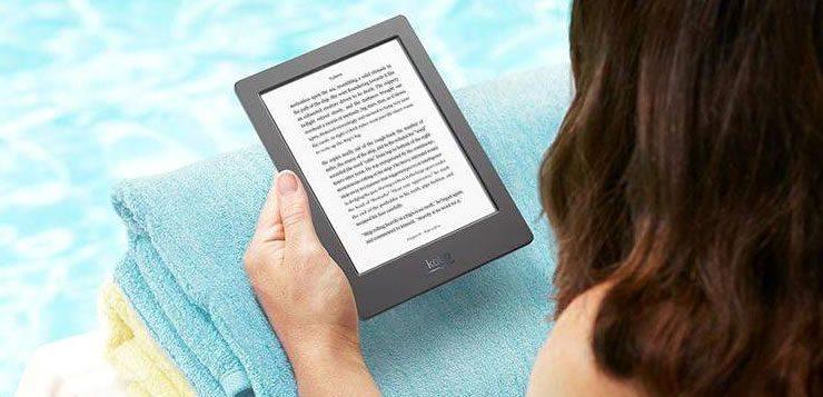 A tecnologia e-ink de alguns e-readers dá a sensação de que o leitor está lendo uma folha de papel