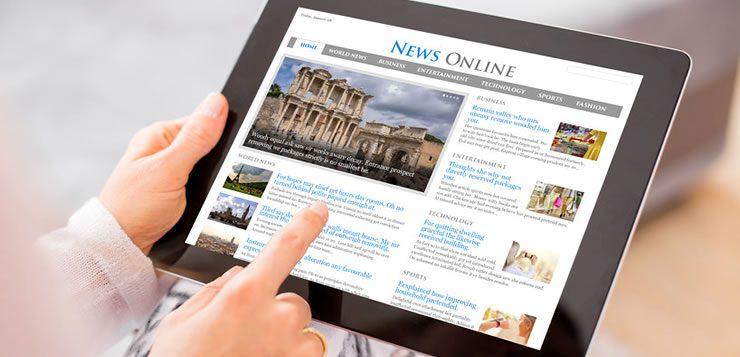 Os jornais ganharam versão digital em portais onde as noticias são atualizadas a cada instante