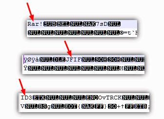 Ver cabeçalhos de arquivo